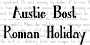 Austie Bost Roman Holiday Solid font download