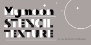 Mymoon Stencil Texture font download