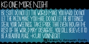KG One More Night font download