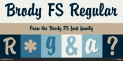 Brody FS font download