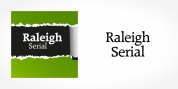 Raleigh Serial font download