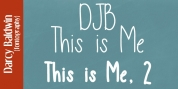 DJB This Is Me font download