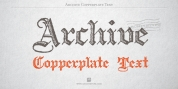 Archive Copperplate Text font download