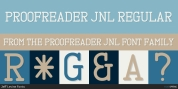 Proofreader JNL font download