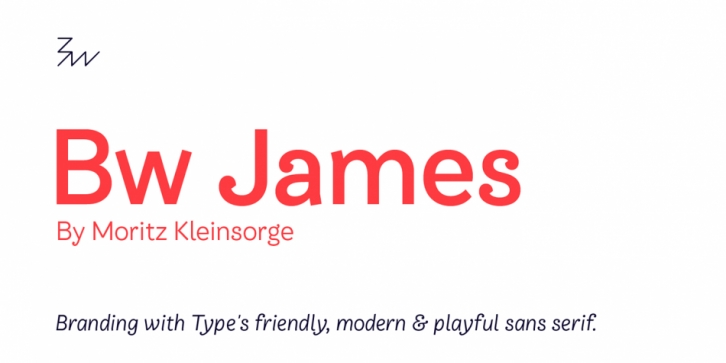 Bw James font preview