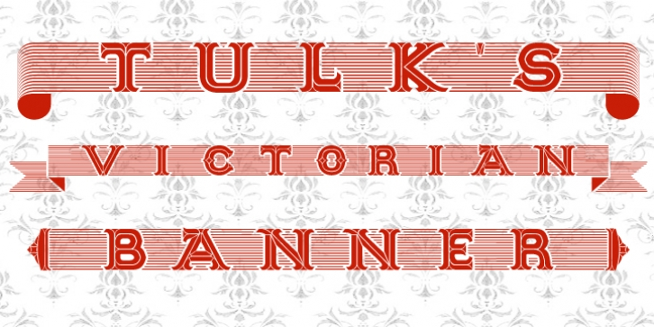 Tulks Victorian Banner font preview
