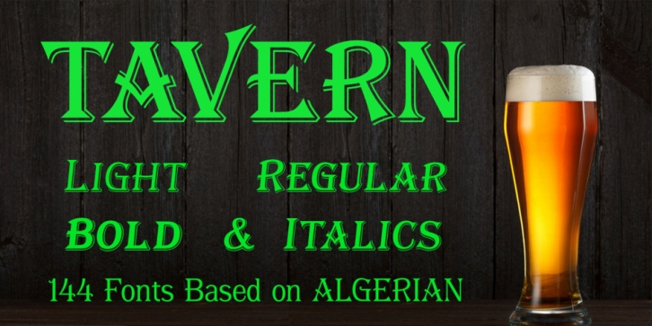 Tavern font preview