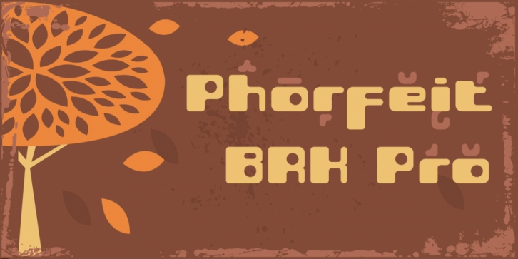 Phorfeit BRK Pro font preview