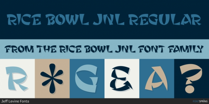 Rice Bowl JNL font preview