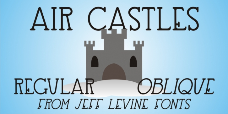 Air Castles JNL font preview