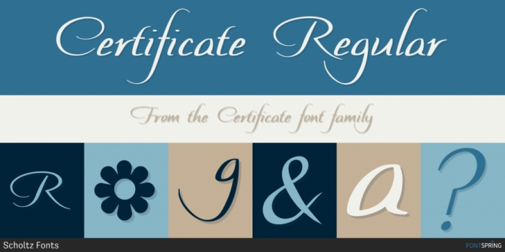 Certificate font preview