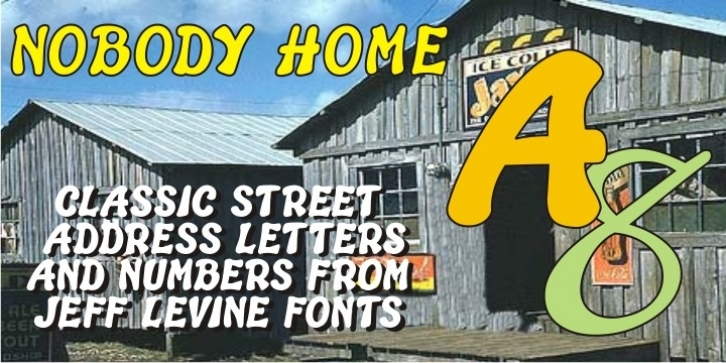 Nobody Home JNL font preview