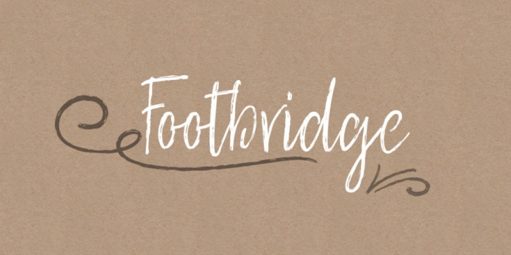 Footbridge font preview