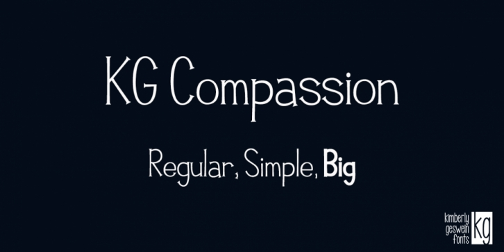 KG Compassion font preview