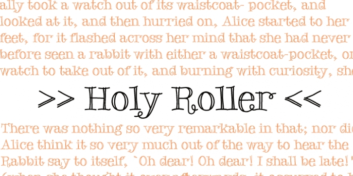 Holy Roller font preview