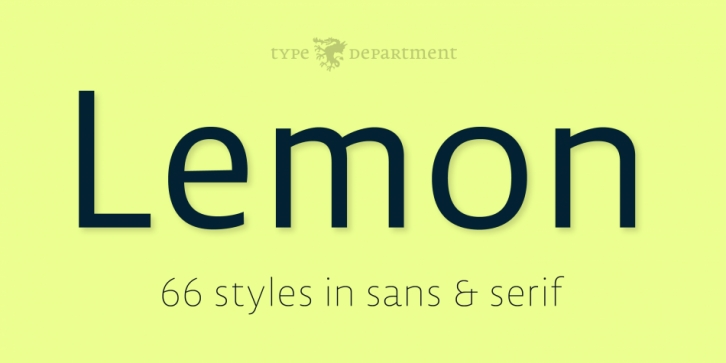 Lemon Serif font preview