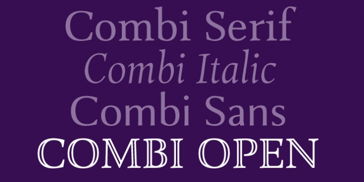 Combi Open font preview