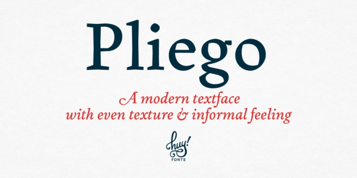 Pliego font preview