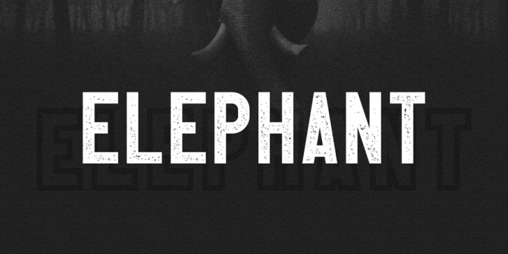 Elephant font preview