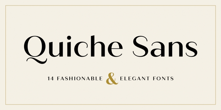 Quiche Sans font preview