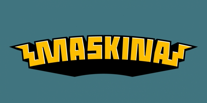 Maskina font preview