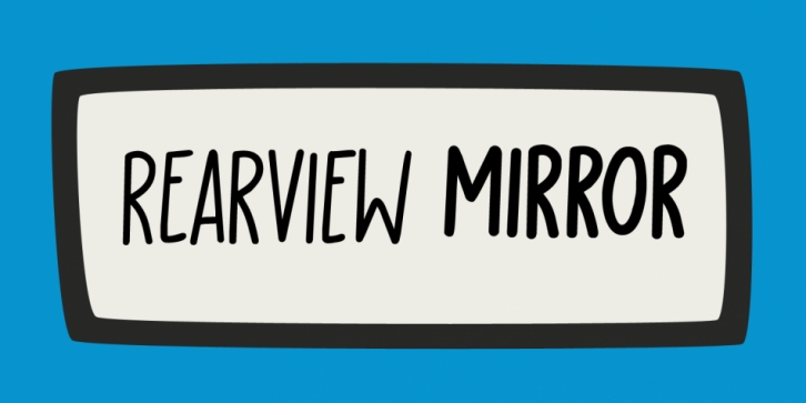 Rearview Mirror font preview