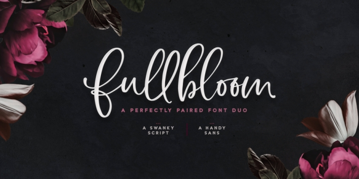 Fullbloom Font Duo font preview