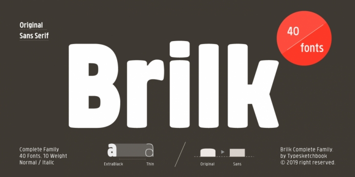 Brilk font preview