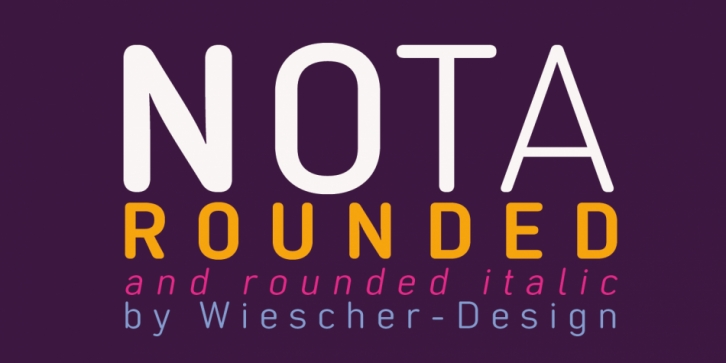 Nota-Rounded font preview