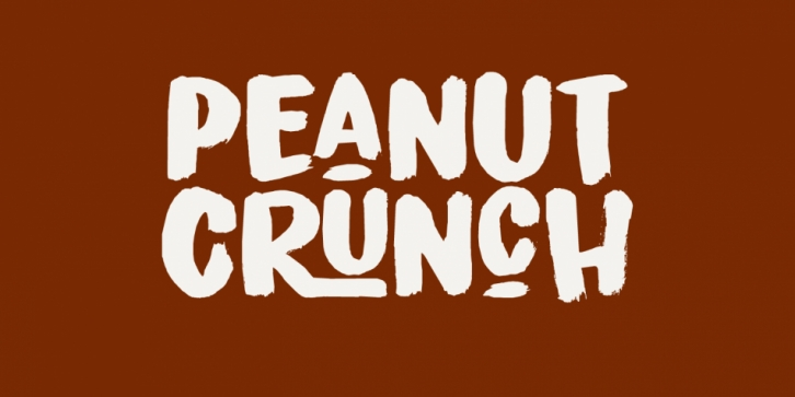 Peanut Crunch font preview