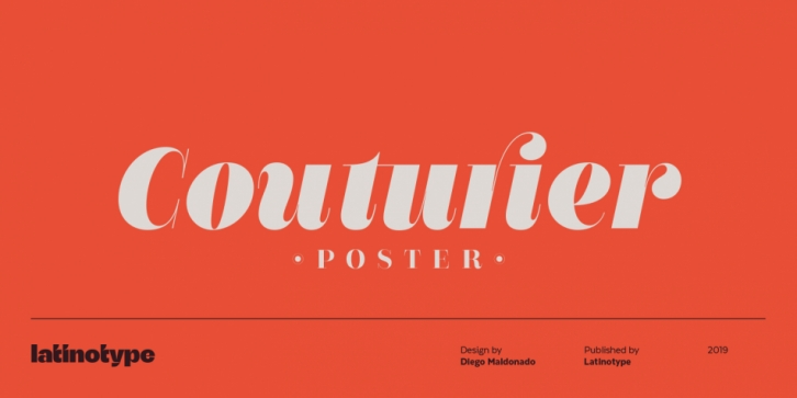 Couturier Poster font preview