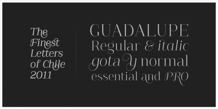 Guadalupe Essential font preview