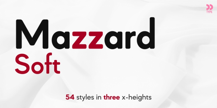 Mazzard Soft H font preview