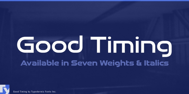 Good Timing font preview