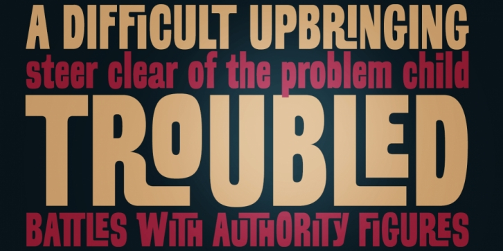 Troubled PB font preview
