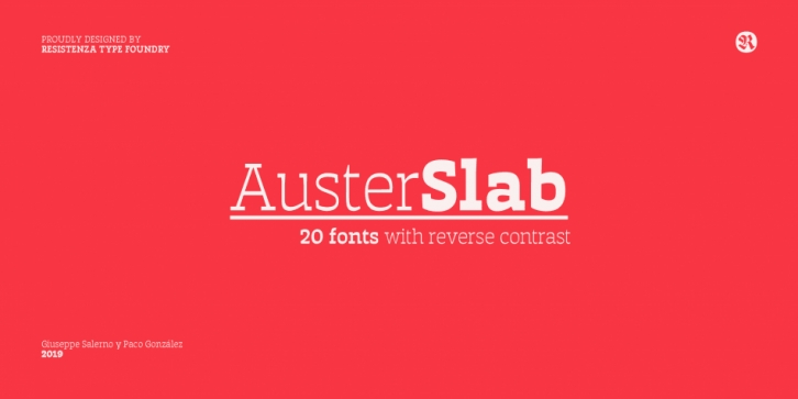 Auster Slab font preview