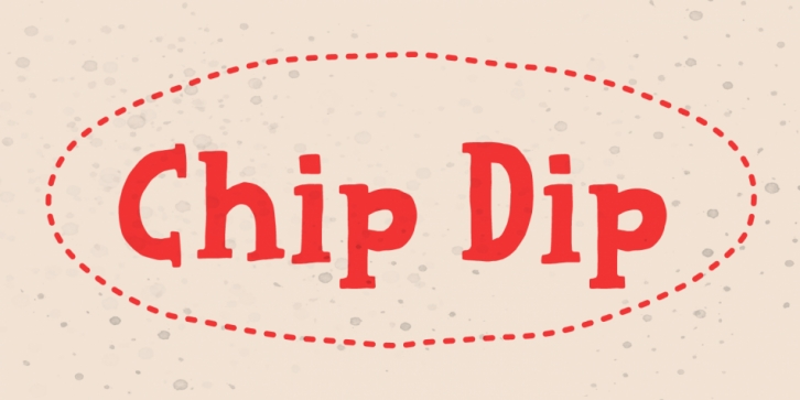 Chip Dip font preview