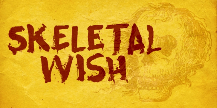 Skeletal Wish font preview