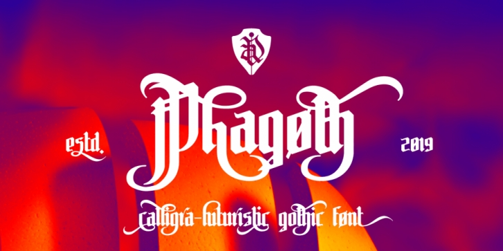 Phagoth font preview