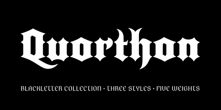 Quorthon font preview