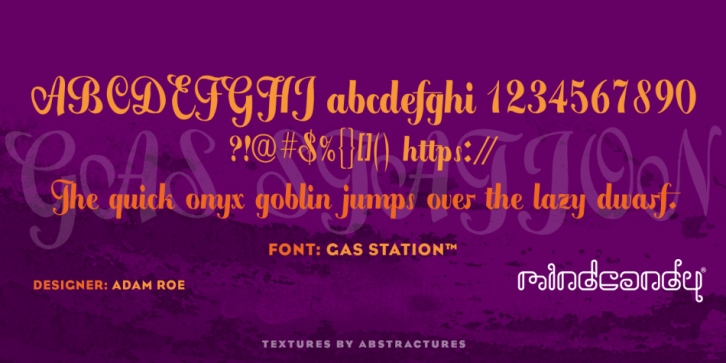 Gas Station font preview