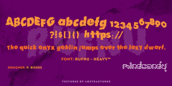 Rufnu - Heavy font preview