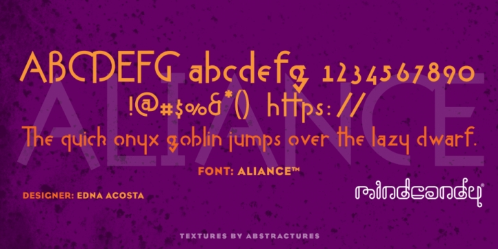 Aliance font preview