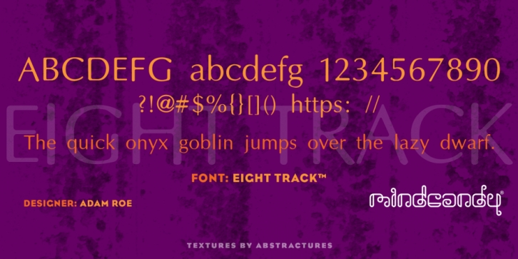 Eight Track font preview