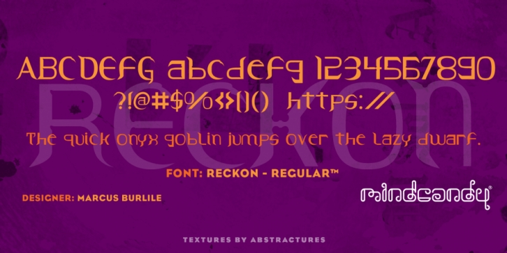 Reckon font preview