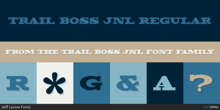 Trail Boss JNL font preview