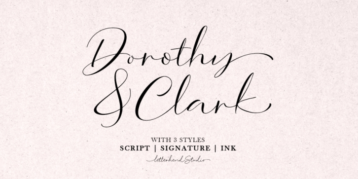 Dorothy Clark font preview