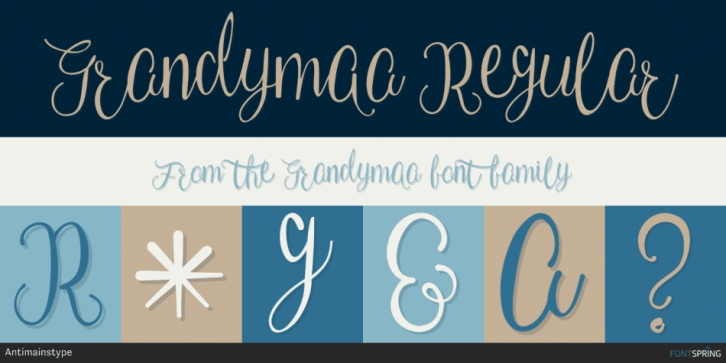 Grandymaa font preview