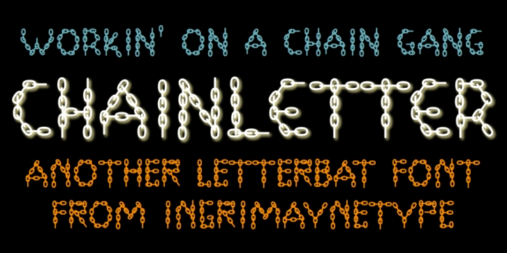 ChainLetter font preview