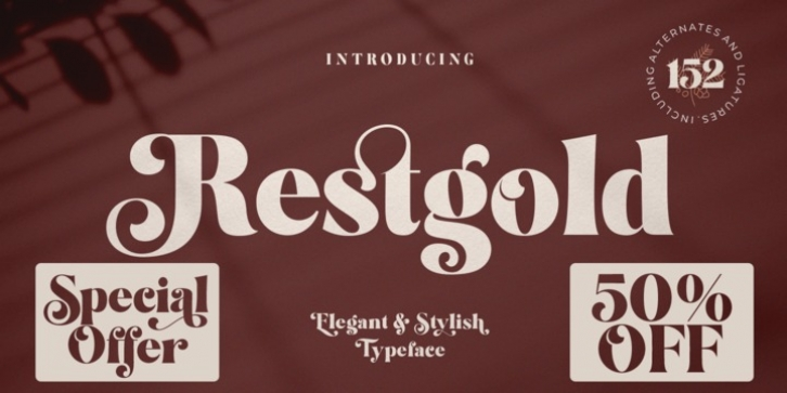 Restgold font preview